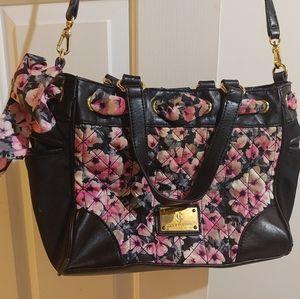 Juicy Couture Black and pink floral handbag